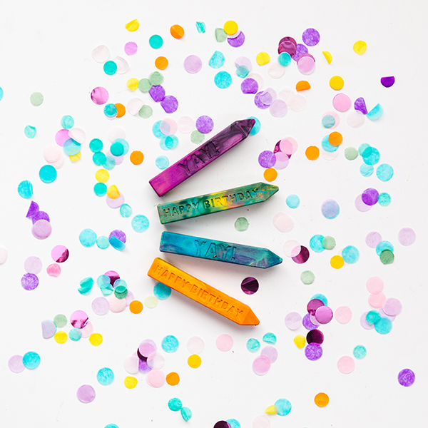 Birthday Crayons - Happy Birthday Mini Crayon Stix™ for kids from Art 2 the Extreme® The Original Rainbow Crayon® - Birthday Gift for boy or girl